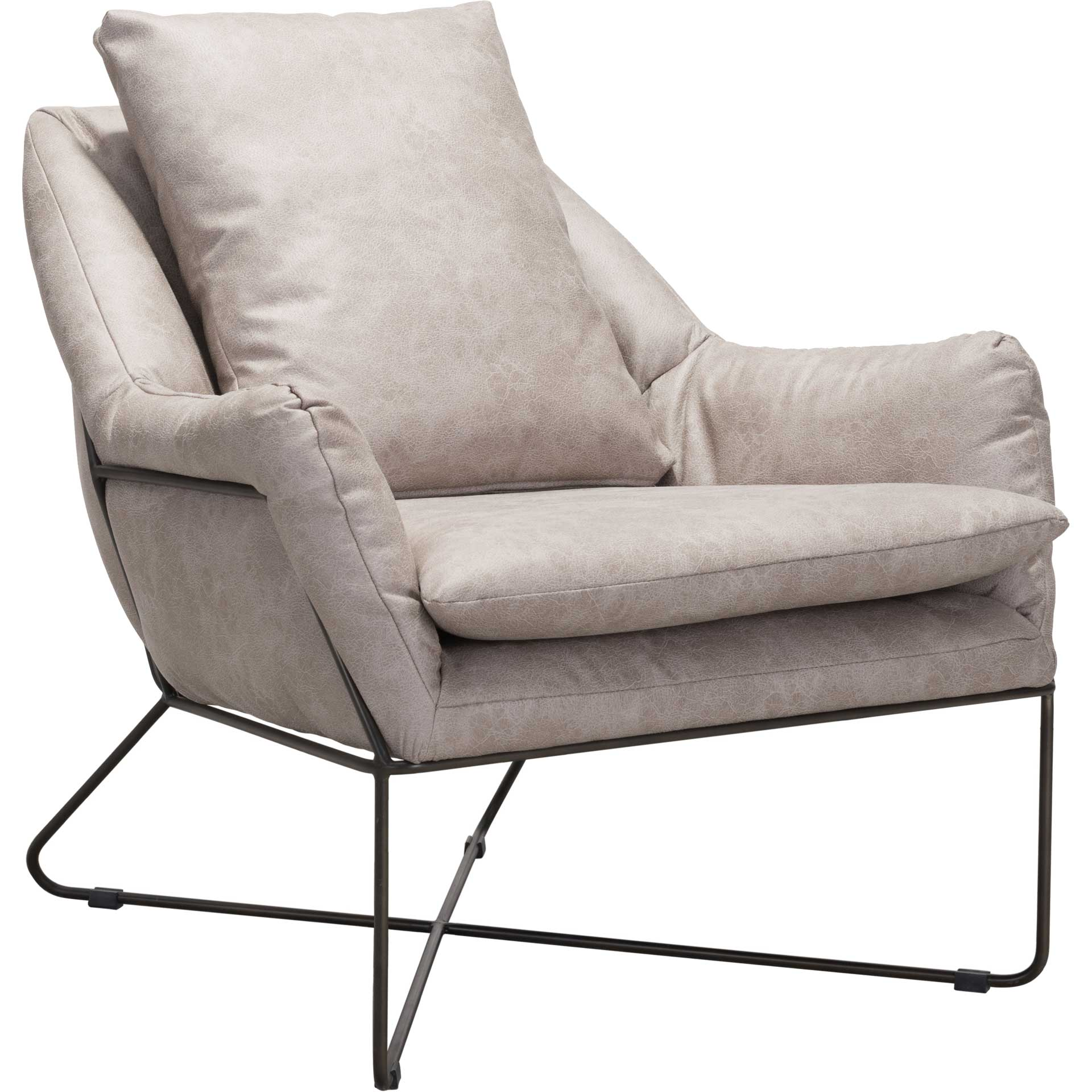 Fletcher Lounge Chair Distressed Gray