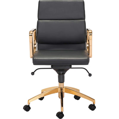 Smart Low Back Office Chair Black/Gold