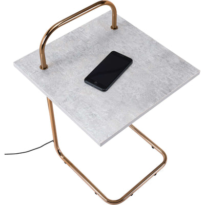Enzo Side Table Concrete/Gold