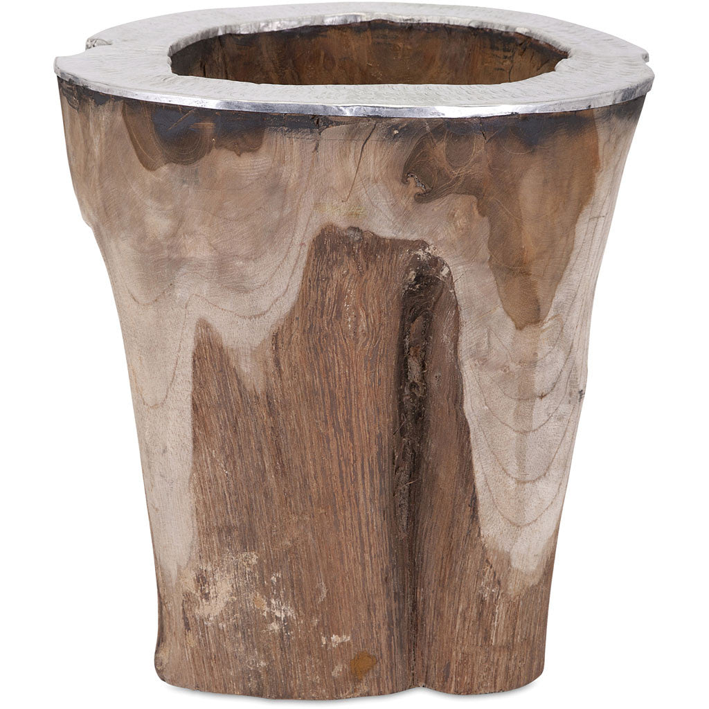 Abound Teak and Aluminum Vase