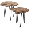 Balto Teak Wood Nesting Tables (Set of 2)