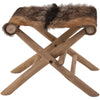 Antuco Animal Hide Folding Stool