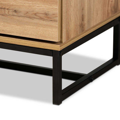 Realyn 4-Drawer Dresser Oak/Black