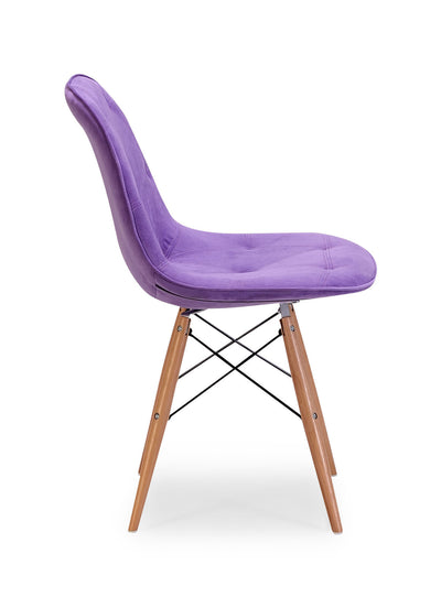 Preston Chair Purple Velour