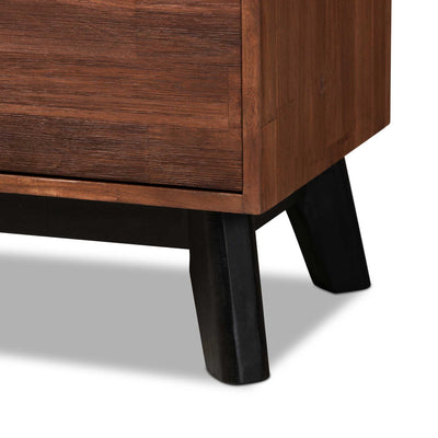 Caroline 2-Door Wood Sideboard Brown/Black