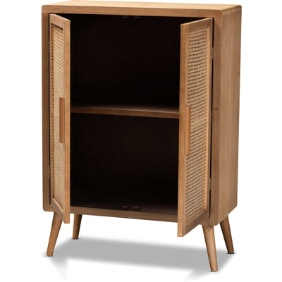 Alyssa 2-Door Storage Cabinet Medium Oak