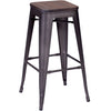 Manchester Bar Chair Rustic Wood (Set of 2)