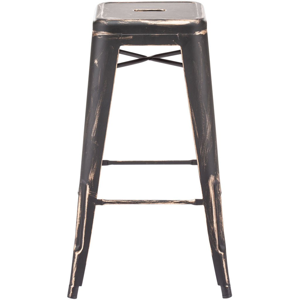Manchester Bar Chair Antique Black Gold (Set of 2)
