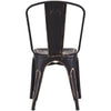 Eastham Chair Antique Black Gold (Set of 2)