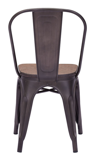 Eastham Chair Rustic Wood (Set of 2)