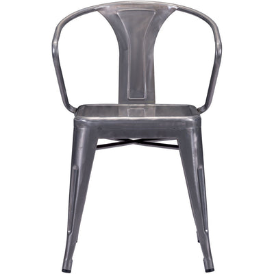 Hampden Chair Gunmetal (Set of 2)