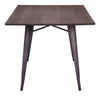 Tauton Rectangular Dining Table Rustic Wood