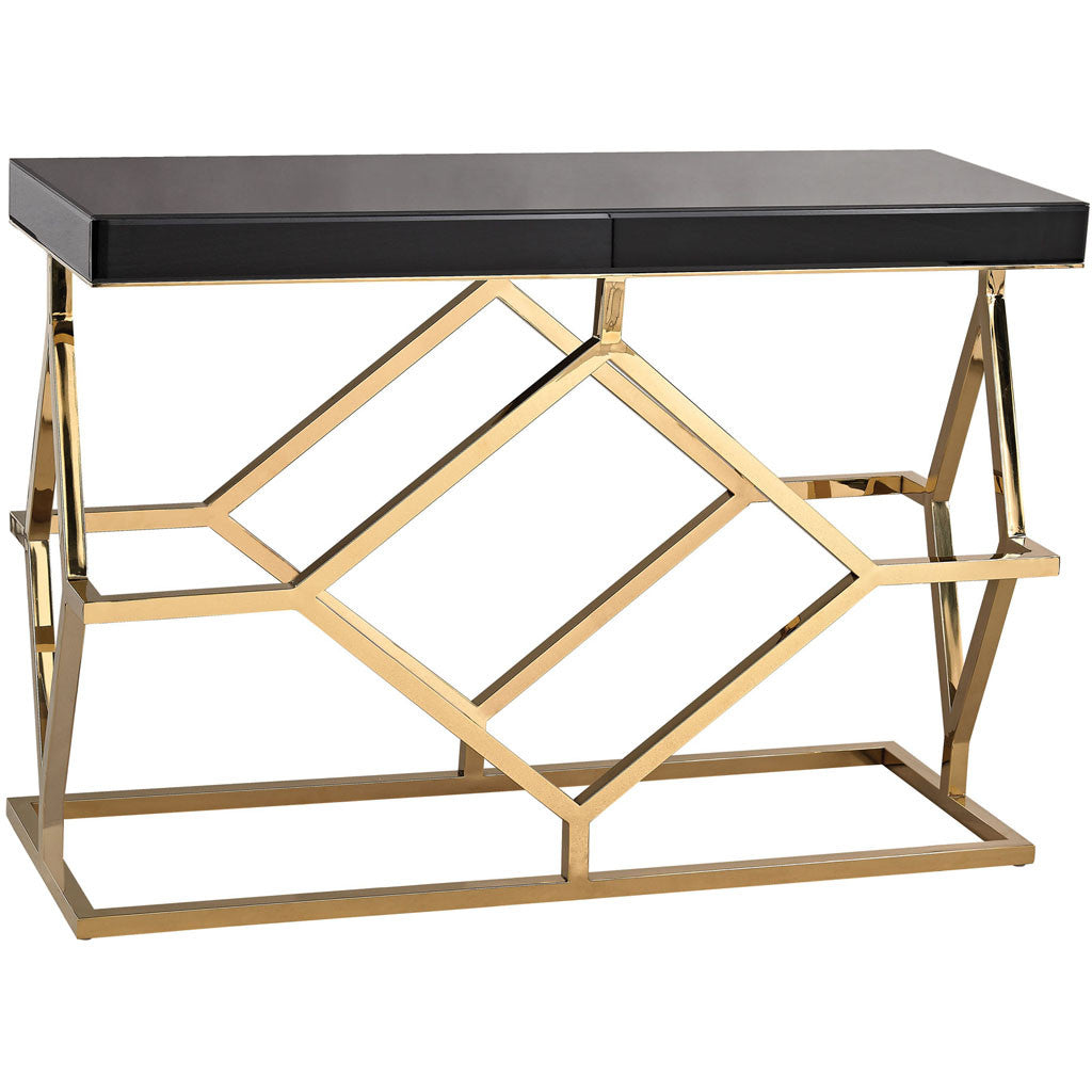 Grove deco console table blackgold froy grove deco console table blackgold geotapseo Image collections