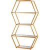 Vitality Book Shelf Gold Leaf/Clear Mirror