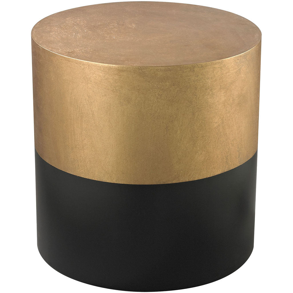 Donahue Drum Table Black/Gold