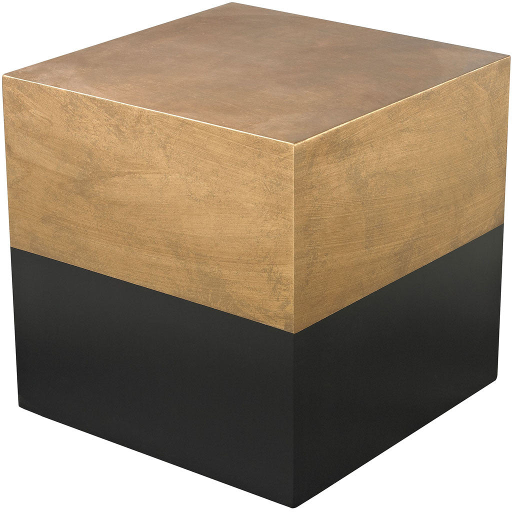 Donahue Cube Table Black/Gold