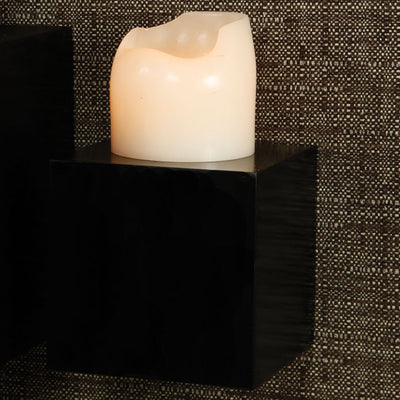 Plane Small Square Wall Cube Black
