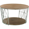 Patrick Round Wood/Metal Coffee Table
