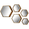 Hexagonal Beveled Mirror (Set of 5)
