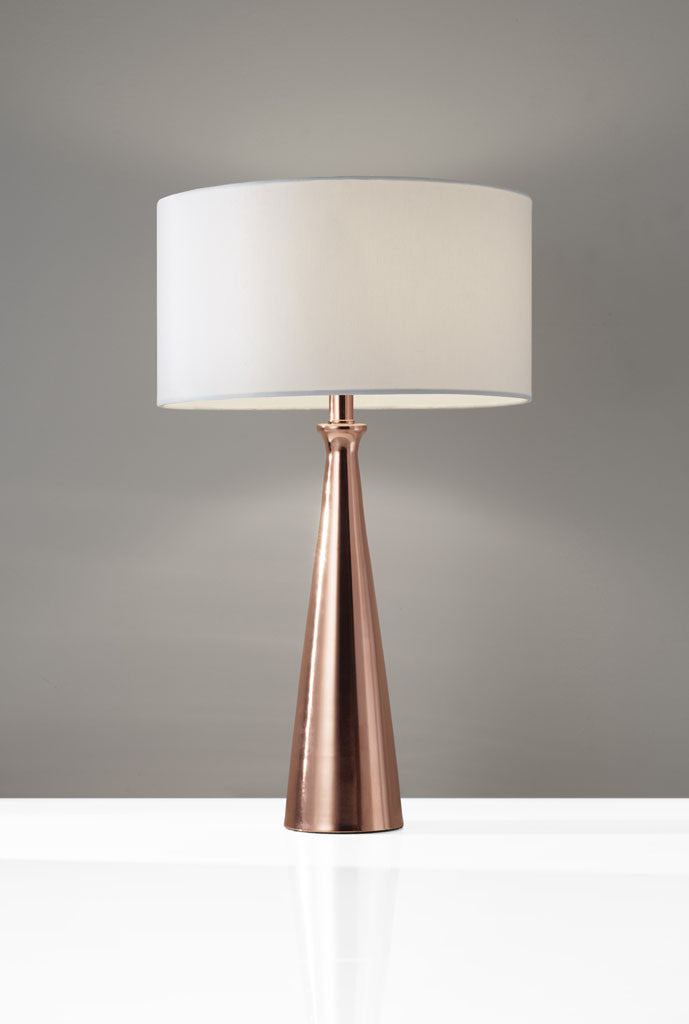 Luna table lamp copper froy luna table lamp copper mozeypictures Gallery