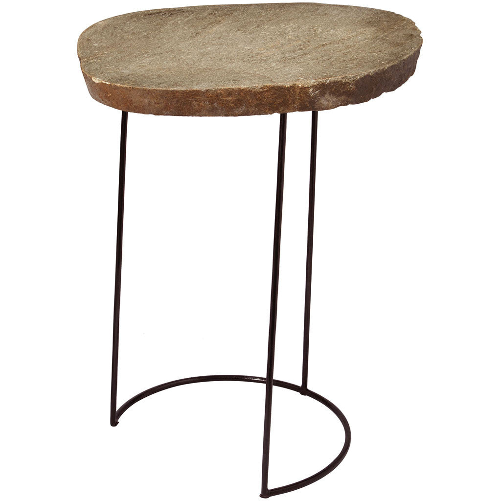 Boise Stone Slab/Wire Frame Table Tall