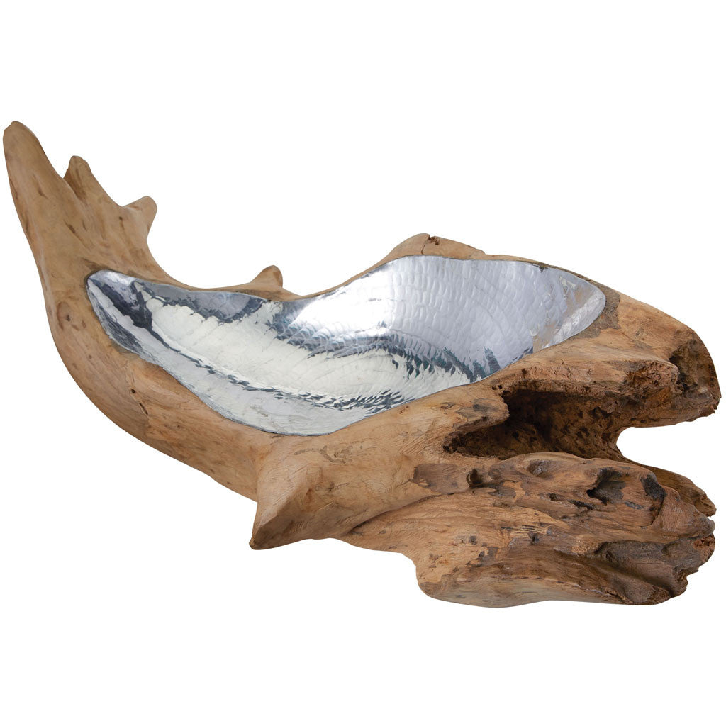 Hem Short Teak Root Bowl Aluminum