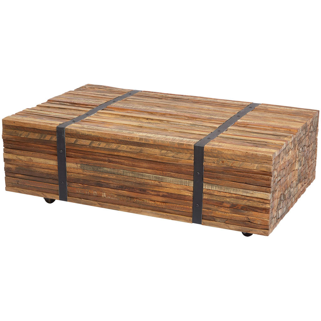 Mazor Teak Strapped Coffee Table