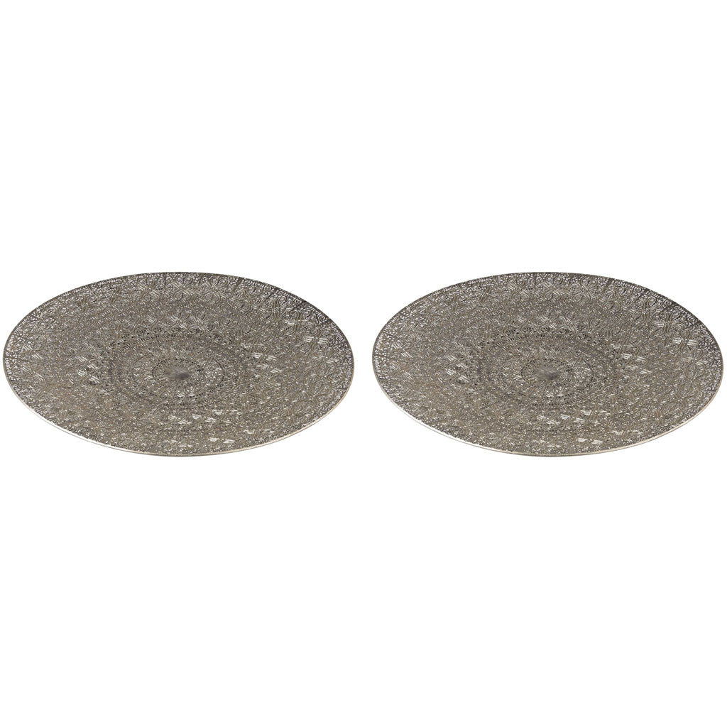 Tangier Pierced Metal Tray (Set of 2)