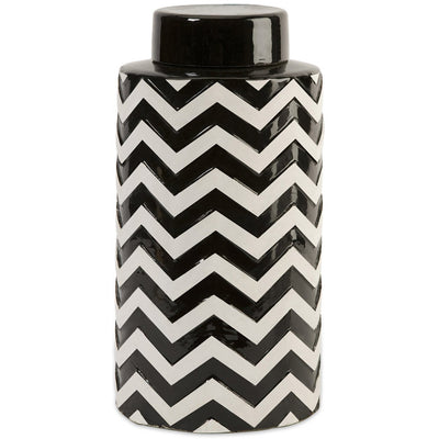 Chevron Large Canister w/ Lid