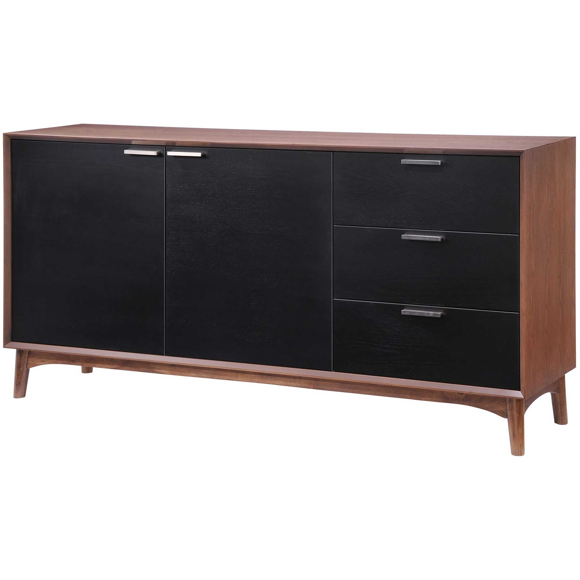 Liberty Bay Buffet Walnut & Black