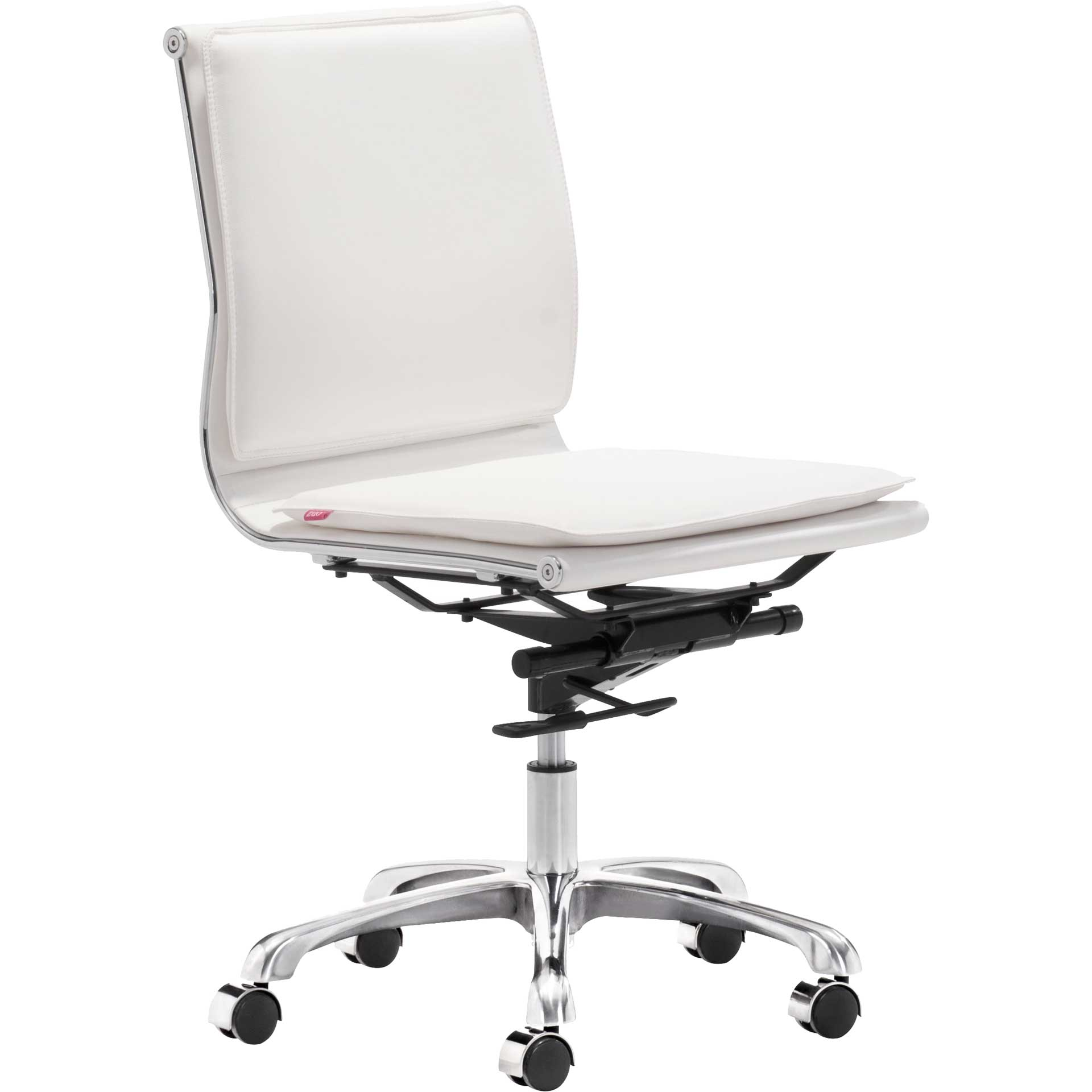 Lincoln Armless Office Chair White