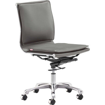 Lincoln Armless Office Chair Gray