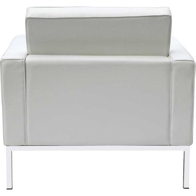 Belmont Arm Chair in Leather White