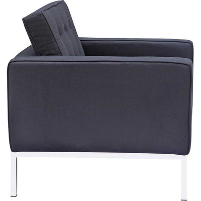 Belmont Arm Chair in Wool Black