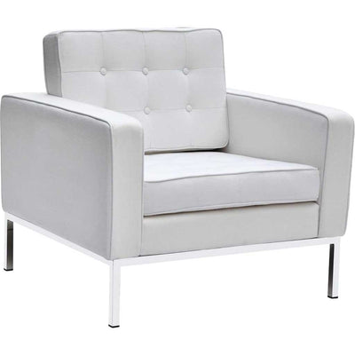 Belmont Arm Chair in Wool White
