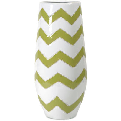 Elite Green Apple Chevron Vase