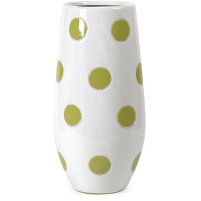 Elite Green Apple Polka-Dot Vase
