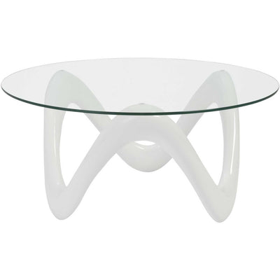 Coral Coffee Table High Gloss White/Clear