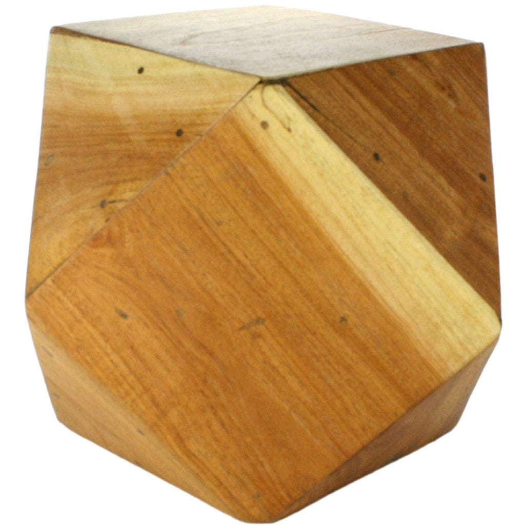 Icosahedron Wood Block Small