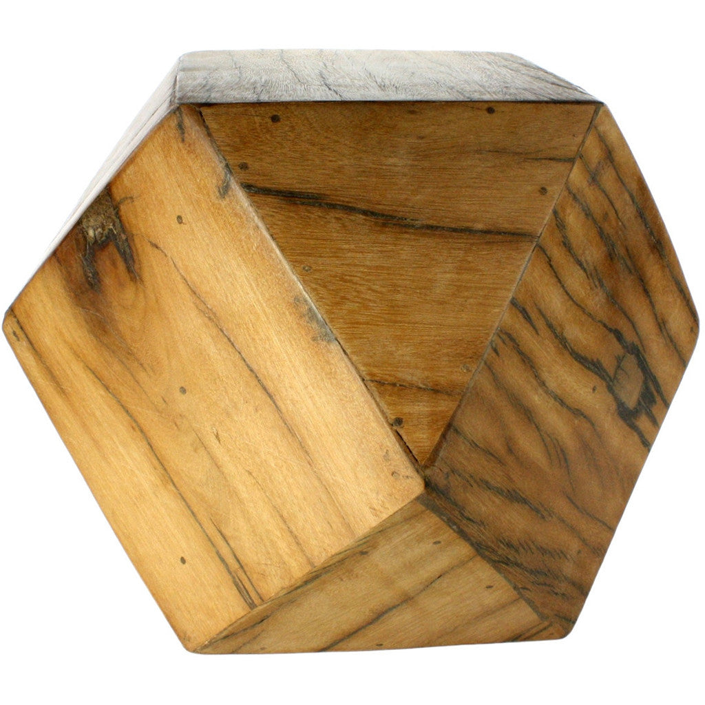 Icosahedron Wood Block Medium
