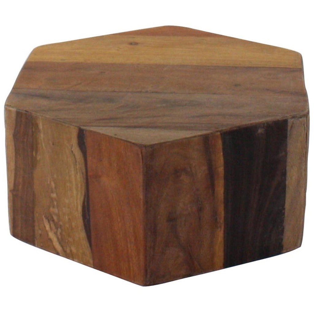 Hexagonal Wood Block Small