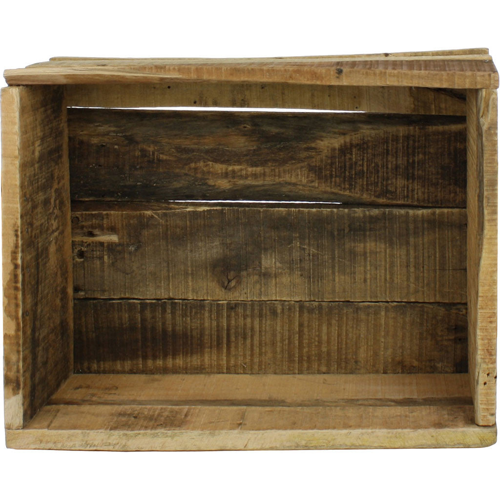 Market Salvaged Wood Crate Natural