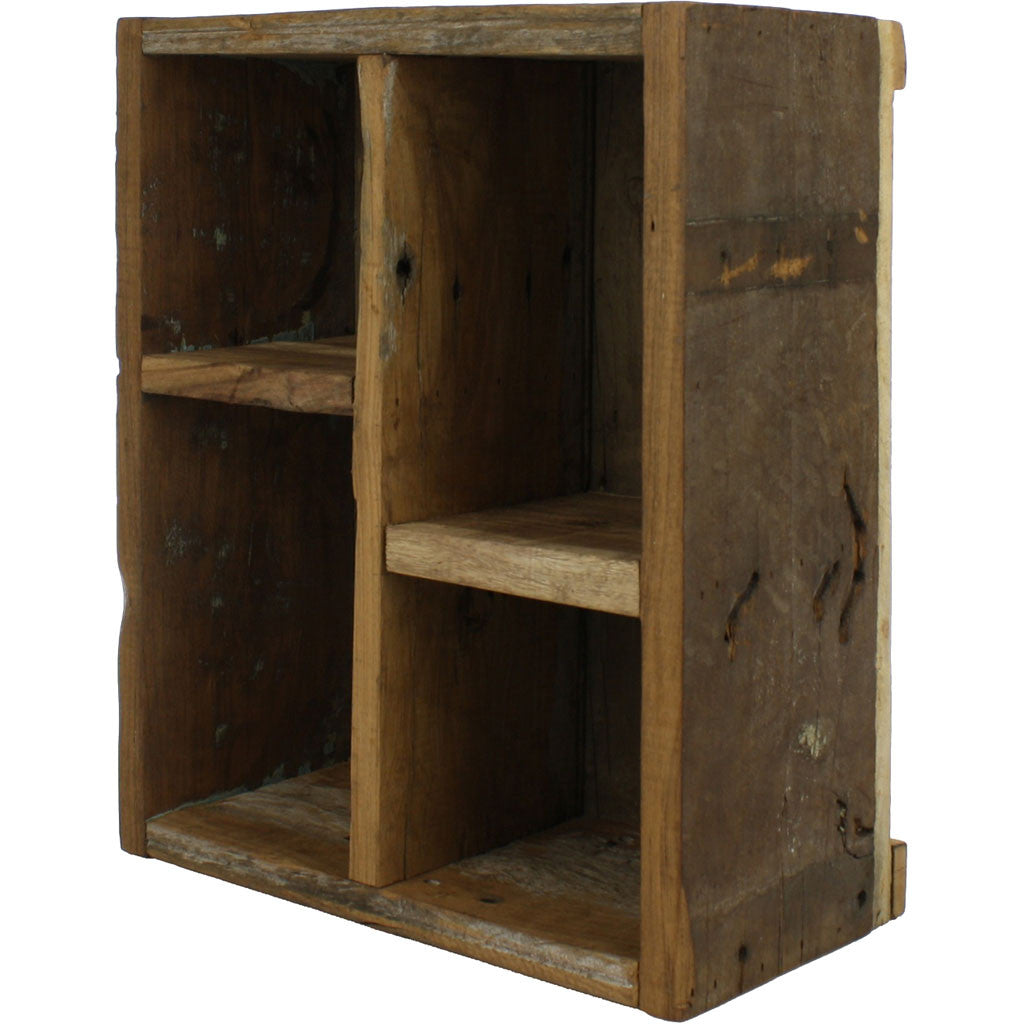 Market Salvaged Divider Wood Crate Natural