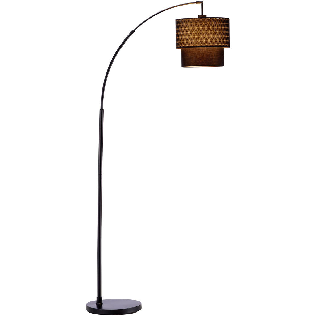 Glimmer Arc Lamp Matte Black