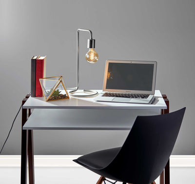 Montgeron Desk Lamp Brushed Steel