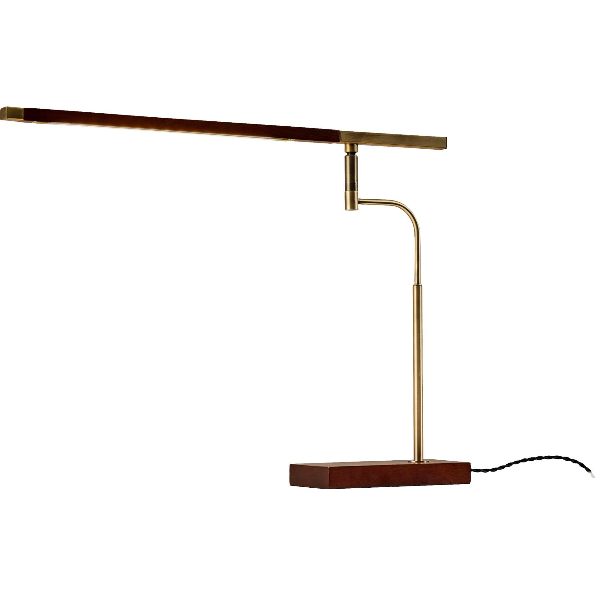 Bagneux LED Desk Lamp Walnut/Brass