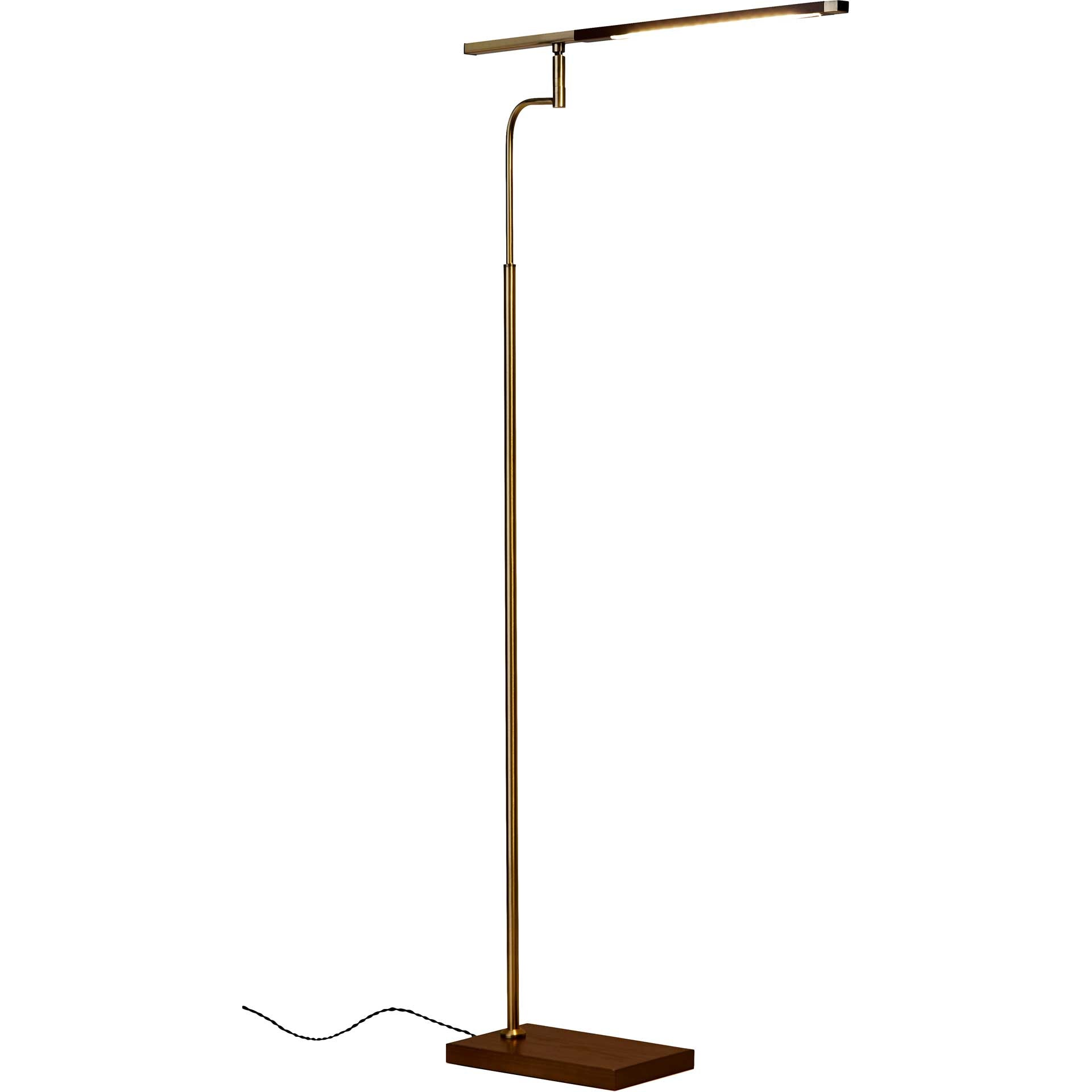 Bagneux LED Floor Lamp Walnut/Brass