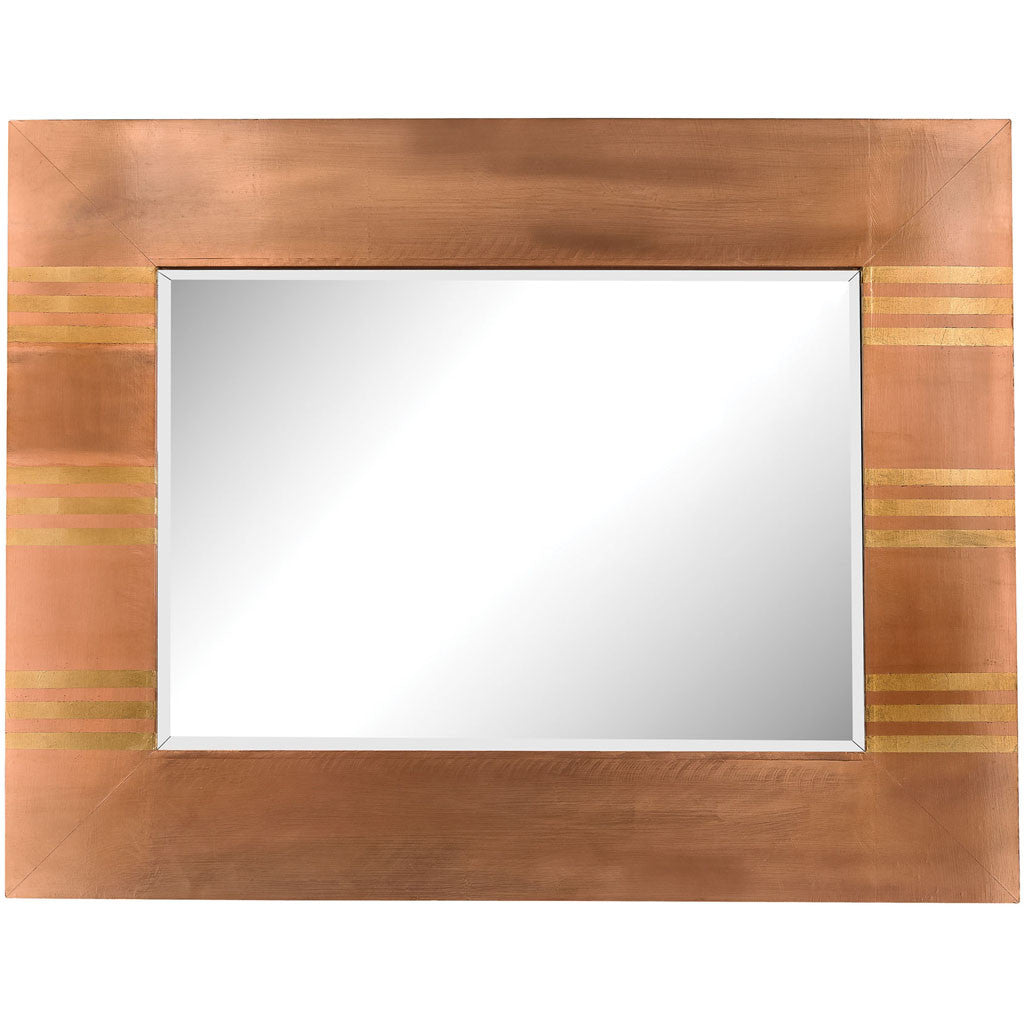 Sterling Copper Frame Mirror Gold