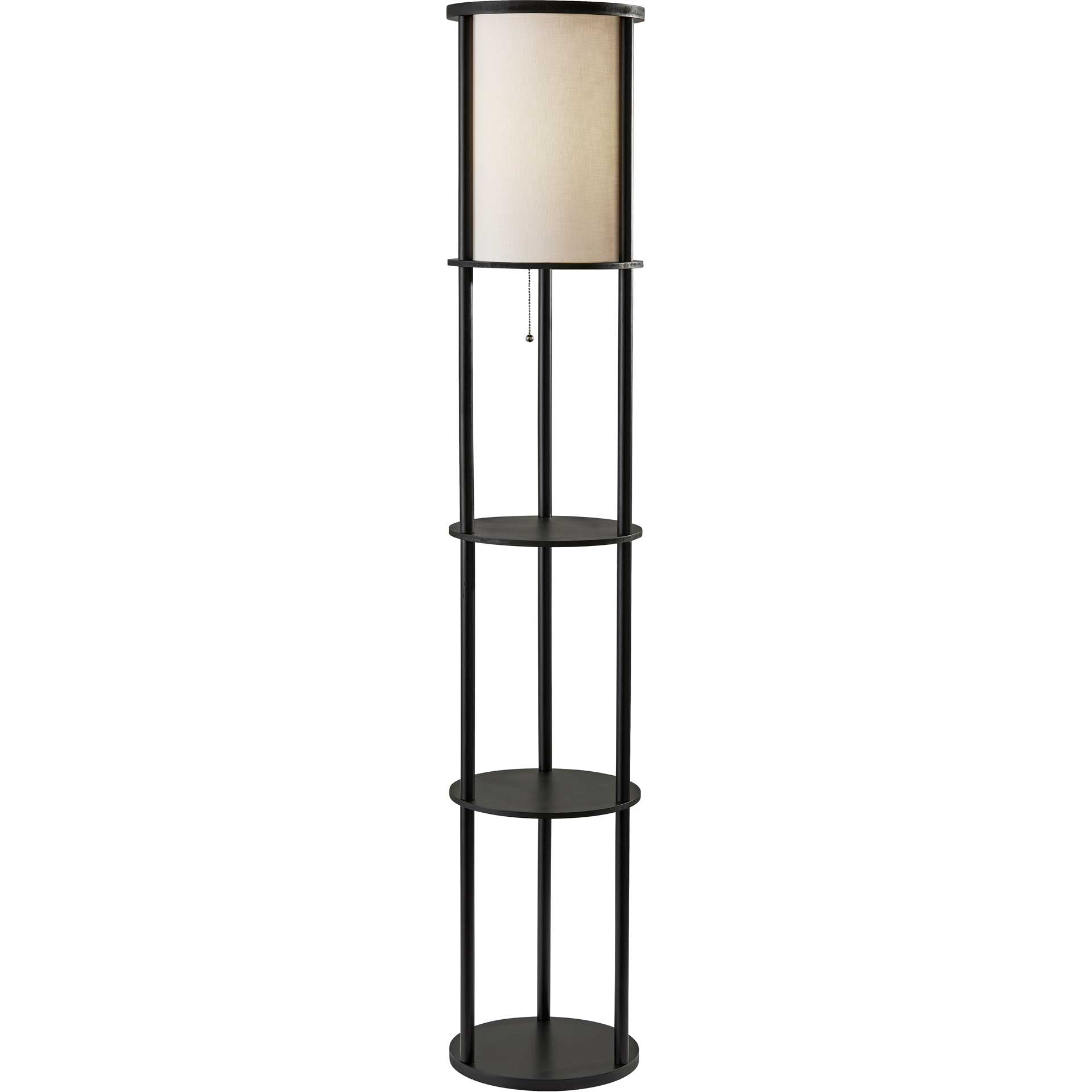 Stavanger Shelf Floor Lamp Black