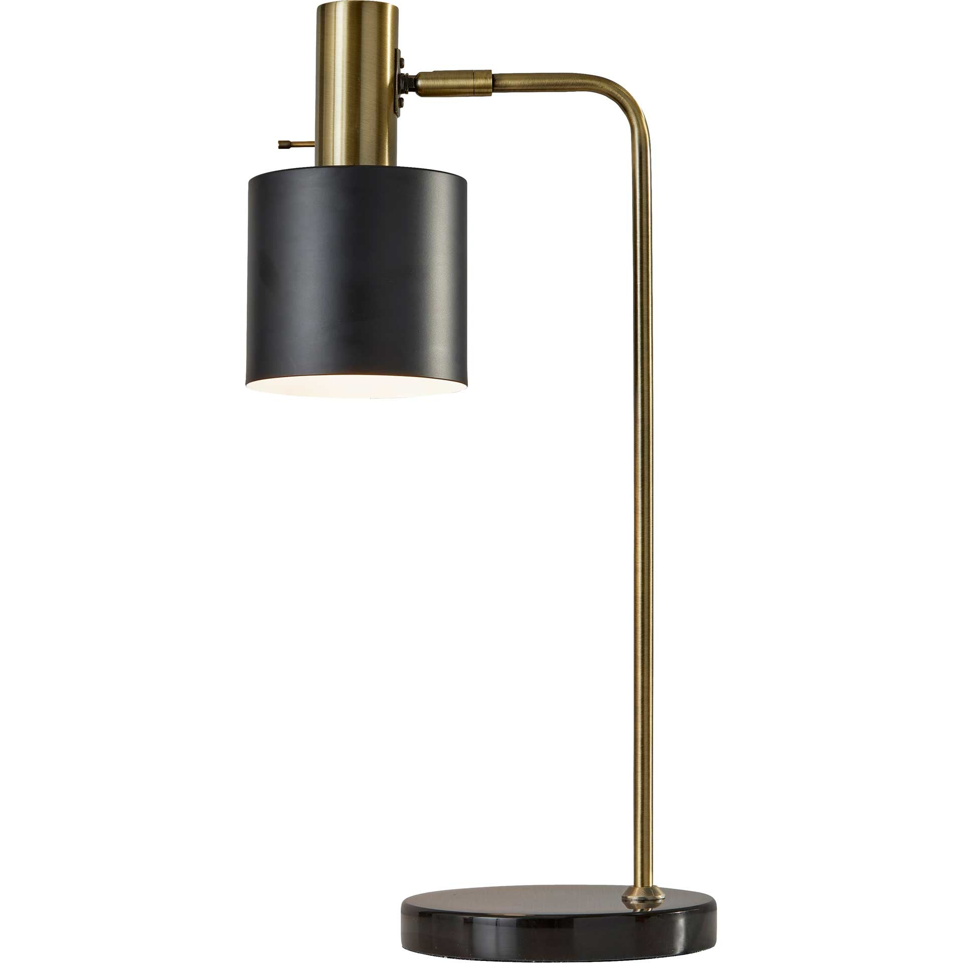 Epinal Desk Lamp Antique Brass/Black